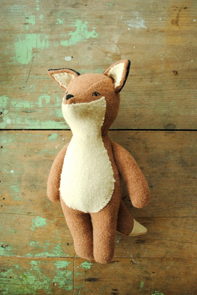 Stuffed Animal Sewing Pattern Fox Or Wolf Soft Toy Doll
