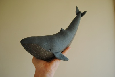 Whale soft toy sewing pattern by Willowynn