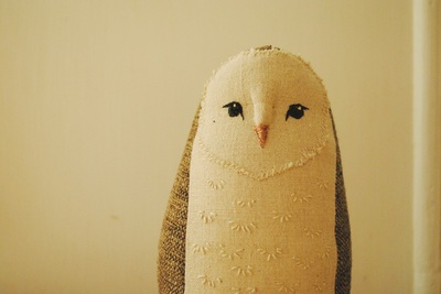 Barn owl soft sculpture by Willowynn