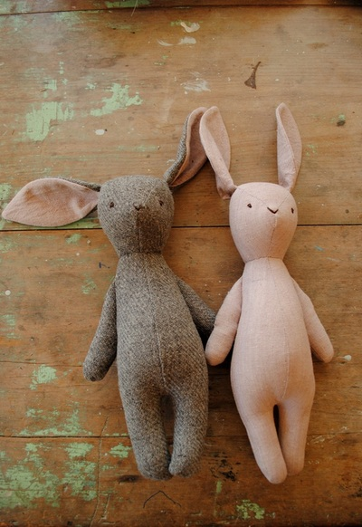 Bunny soft toy sewing pattern by Willowynn