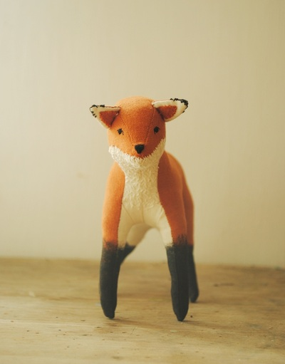 Fox soft sculpture by Willowynn