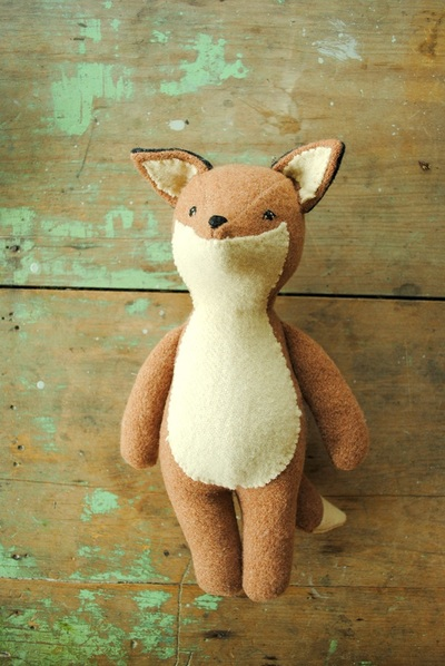 Fox stuffed animal sewing pattern by Willowynn