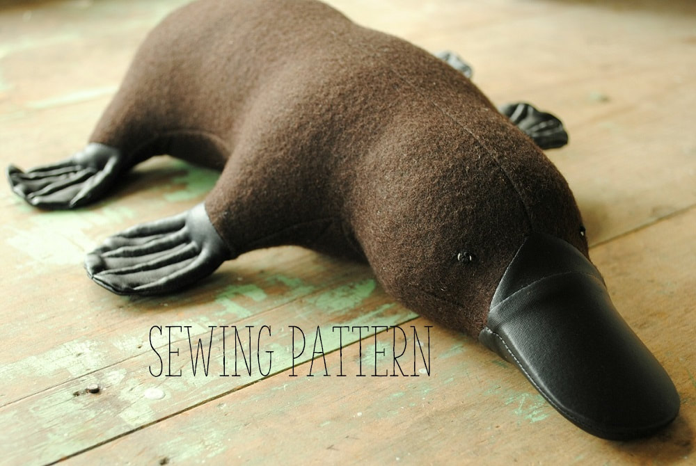 Platypus soft toy sewing pattern by Willowynn