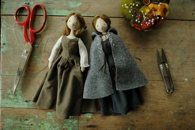 Cloth art dolls by Willowynn