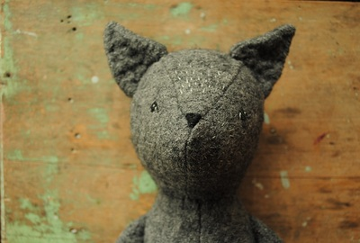 Wolf soft toy sewing pattern by Willowynn